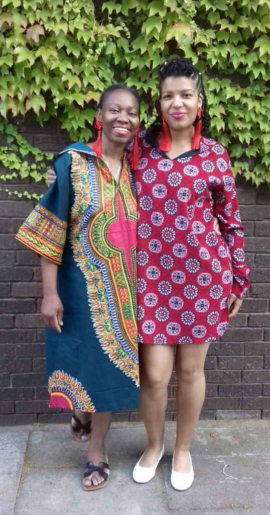 Funke Alabi on the left with Caro Sika on the right wearing a 4th Culture Corduroy Tunic