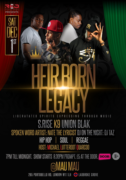 HEIR BORN LEGACY - Liberated Spirits Expressing through Music!!