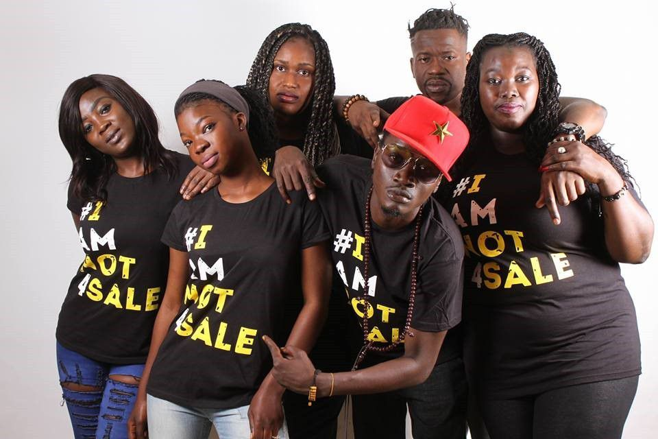 Gambian artists supporting #iamnot4sale