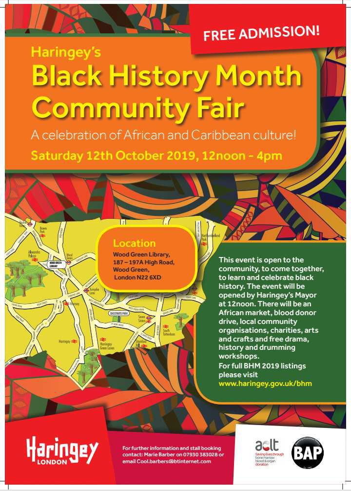 FREE African Cultural and Artistic Market on Saturday 12 October from 12 to 4pm, Wood Green