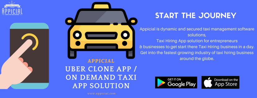 Uber clone taxi app solution - Appicial basically known as