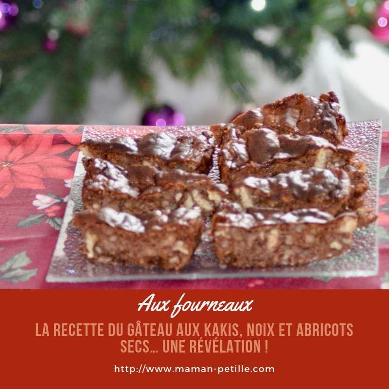 La recette du gâteau aux kakis, noix et abricots secs… une révélation !