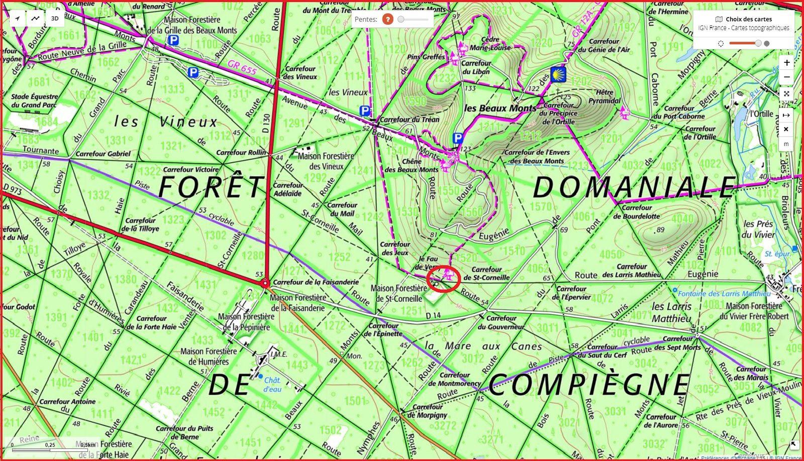 carrefour_Chemin de Saint-Corneille_Route de Saint-Pierre