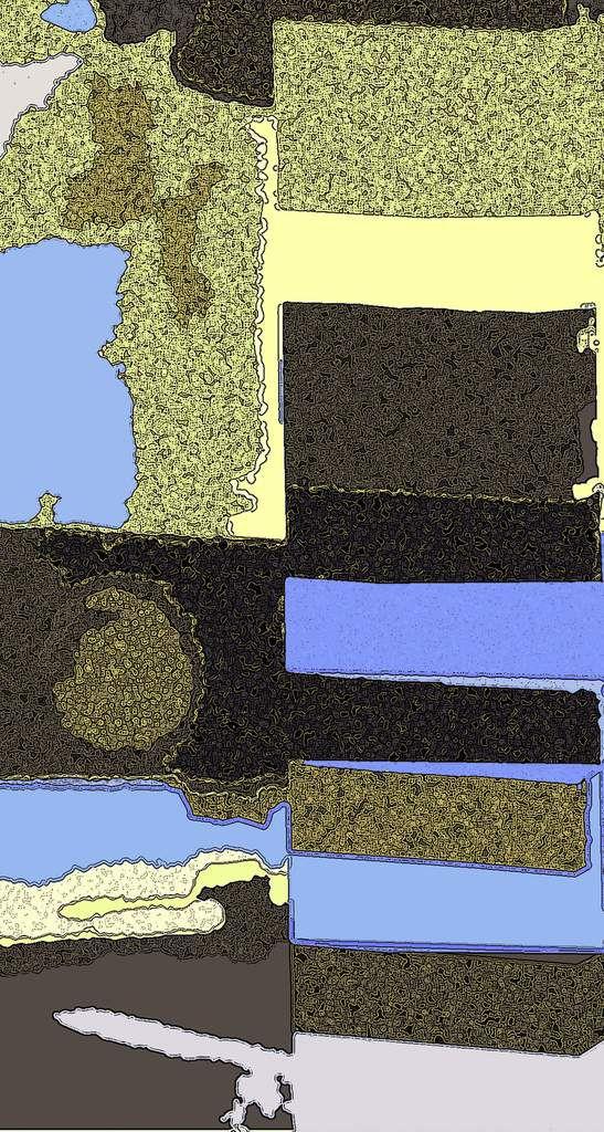 Géologie- Peinture numérique - Muriel CAYET