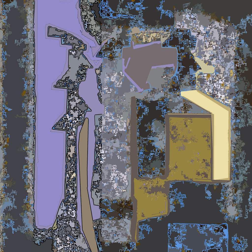 La boîte à paysage - Peinture numérique - Muriel CAYET