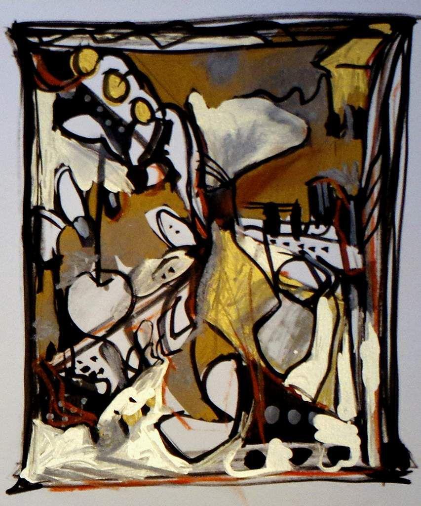 Marqueur sur bristol 21 x 23 cm - Muriel CAYET