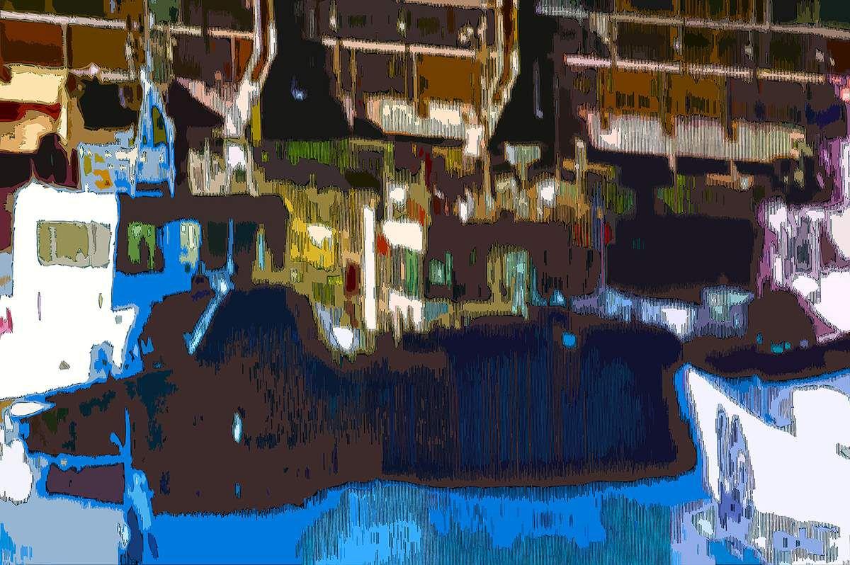 Prendre la mer - Peinture numérique - Muriel CAYET- Novembre 2018
