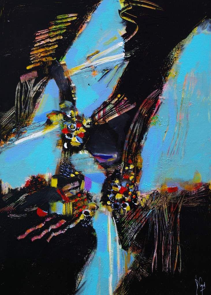 Quelques secondes pour ... Muriel CAYET - Acrylique sur toile - 70 x 50 cm - 2019