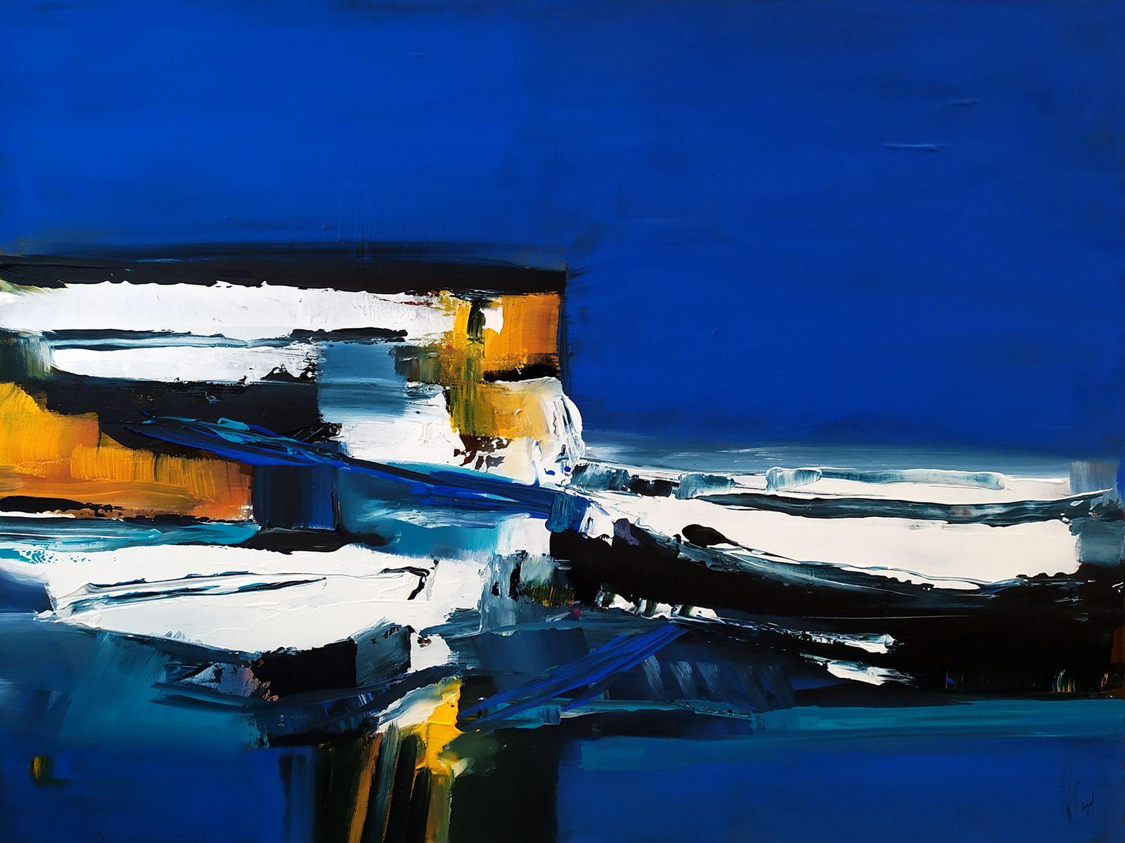 L'équilibre atmosphérique - Acrylique sur toile - 65x81 cm - Muriel CAYET
