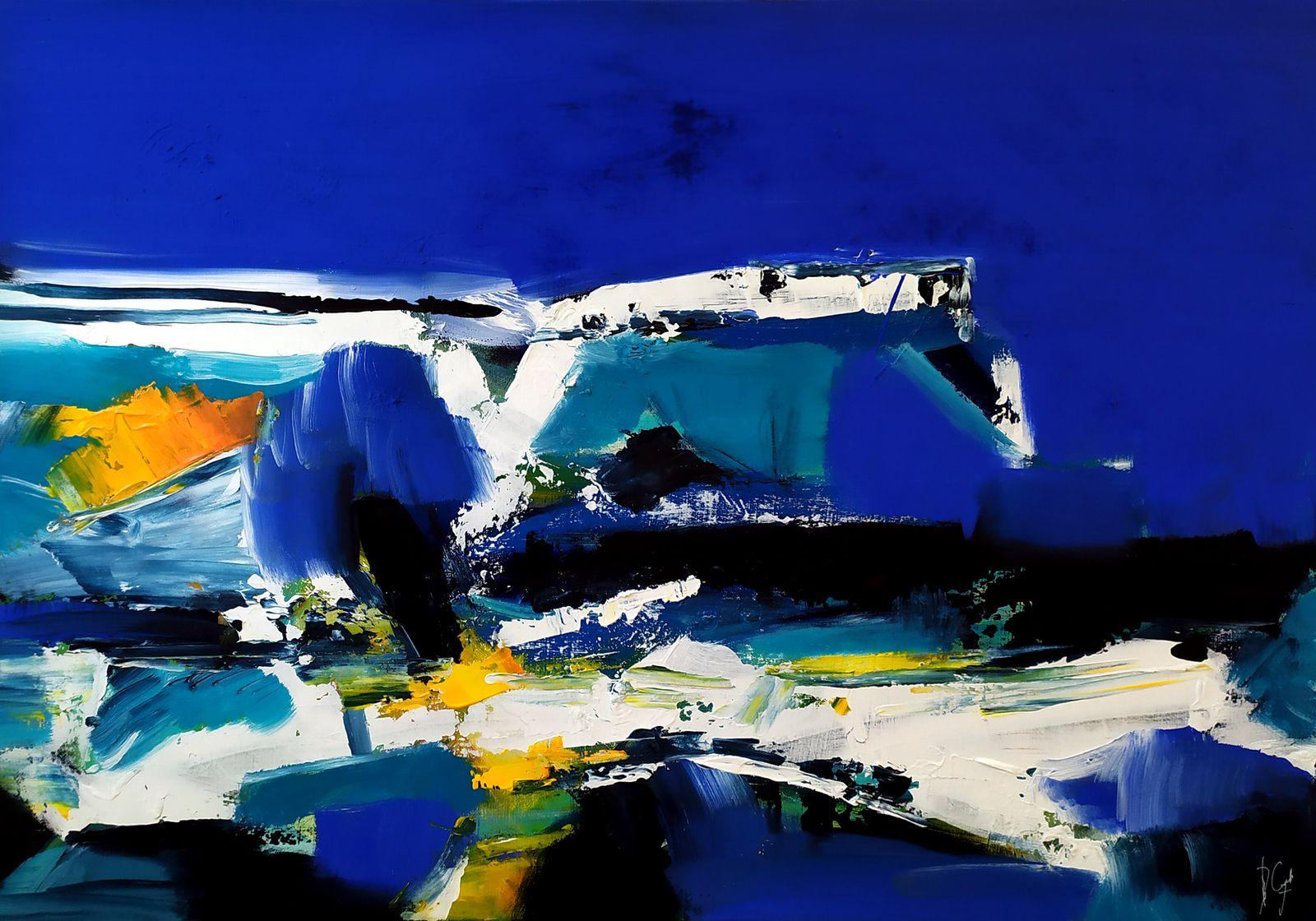 Un rythme architecturé - 70x100 cm - Muriel CAYET - Acrylique sur toile