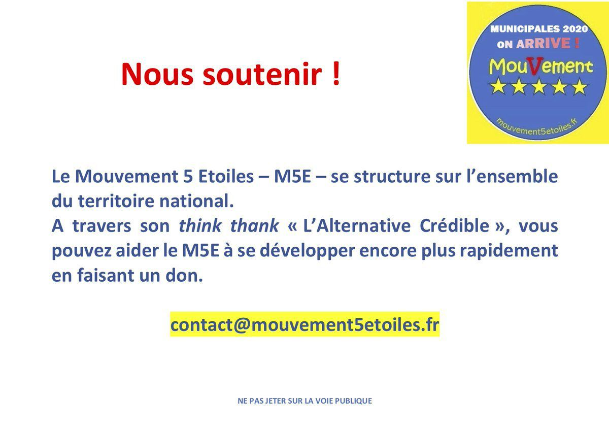 RT @ie_sae: #municipales #M5EFrance
