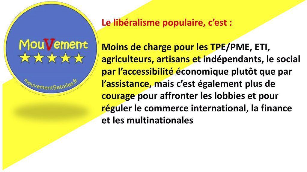 étoile libéralisme populaire