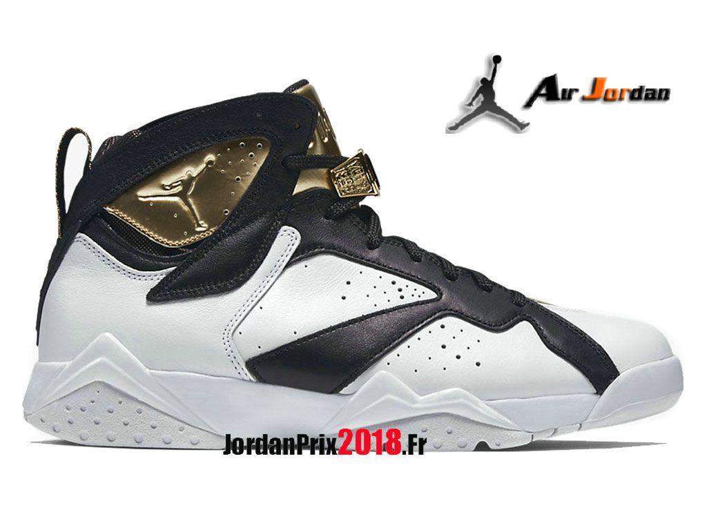 reputable site 750e9 45d1a Chaussure Basket Jordan Prix Pour Homme Air Jordan 7 Retro Champagne  Blanc Noir Or 725093-140