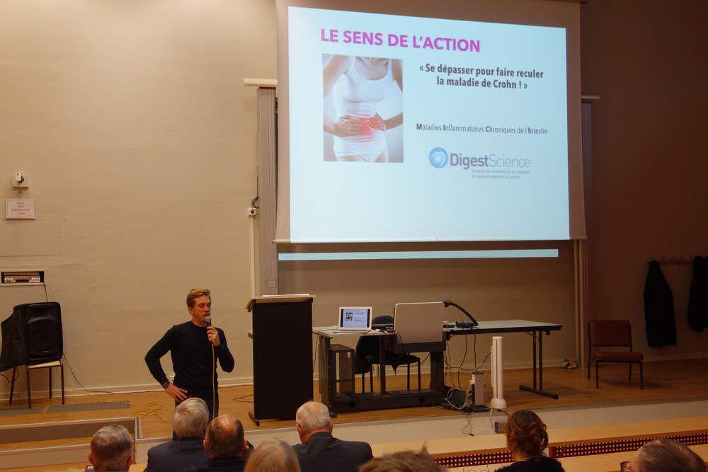 Photos de la conférence du jeudi 5 décembre à l'IUT:  Le dépassement de soi