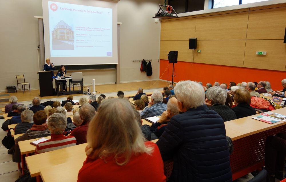 Diaporama & Photos de la conférence du jeudi  5 mars 2020 : Tourisme et patrimoine  sur le territoire de Béthune-Bruay