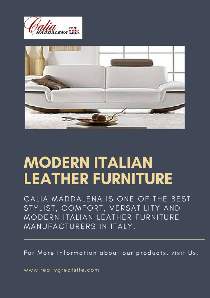 Surprising Modern Italian Leather Furniture Caliamaddalenauk Over Pabps2019 Chair Design Images Pabps2019Com