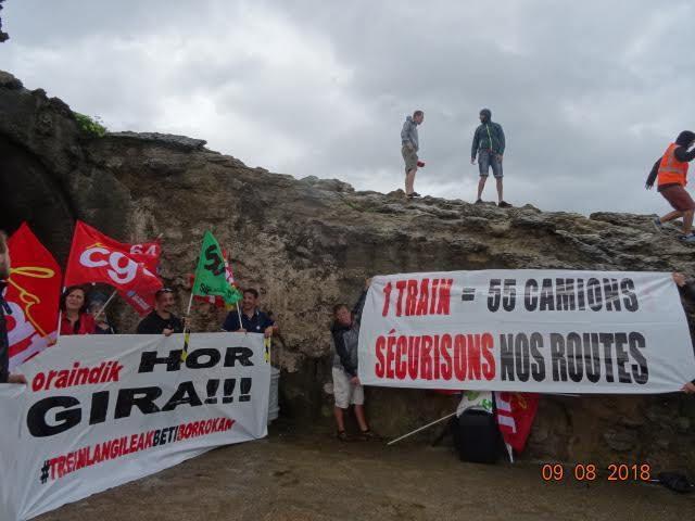 Action cheminots à Biarritz | Réchauffement climatique | Propos perfides du maire