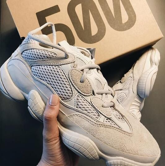 "baef4be80d5 The stealthy colorway is a follow-up to the previous iterations of the YEEZY  500 aka Desert Rat in ""Super Moon Yellow"" and ""Blush"" with ""Ultraviolet""  and "" ..."