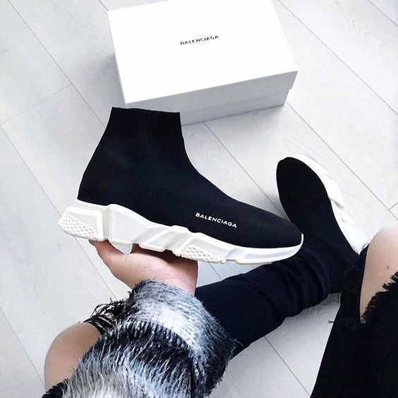 129be2ae08a8 ... upcoming Balenciaga Speed Trainer done in a versatile Black and White  colorway. Bridging the gap between a functional sports sneaker and luxury  footwear ...