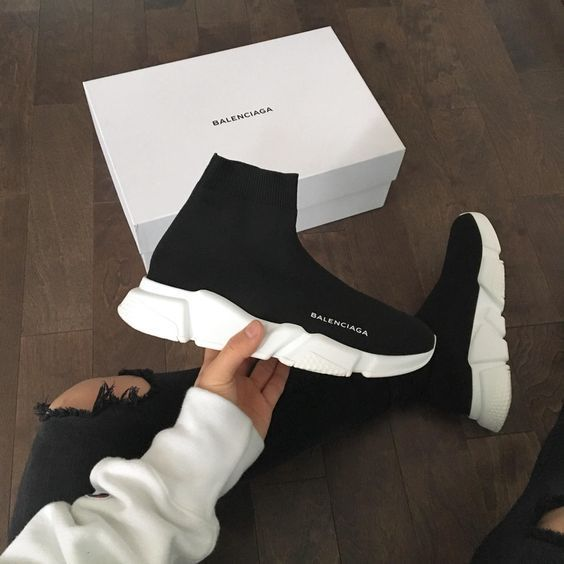 bd23129d78dc One of the most popular shoes of the year is the Balenciaga Speed Trainer.  I ve seen both men and women from celebs to your average person rocking  these.