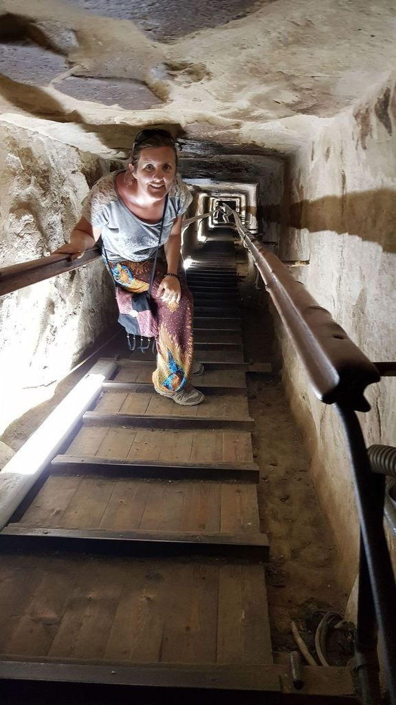 A l'intérieur de la pyramide de Kheops
