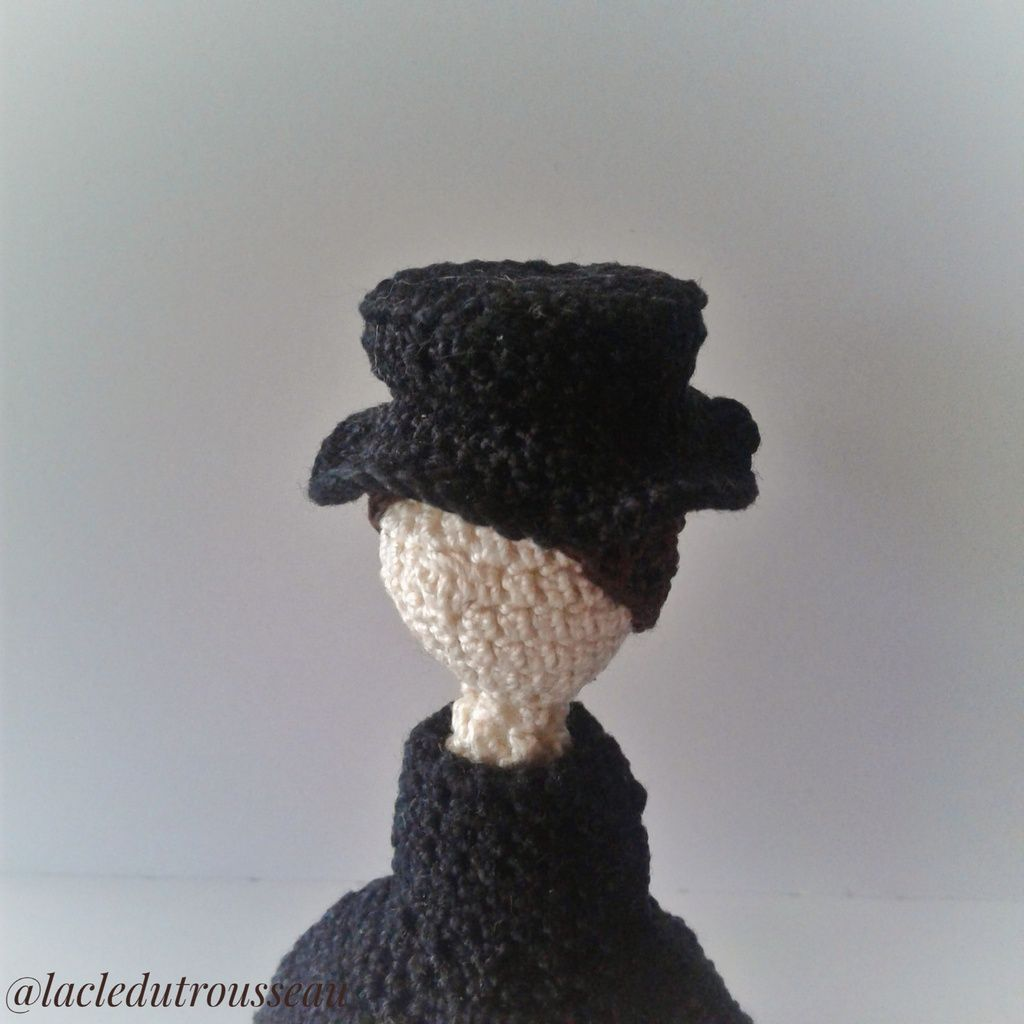 Mary Poppins, crochet, doll, poupée, miniidole