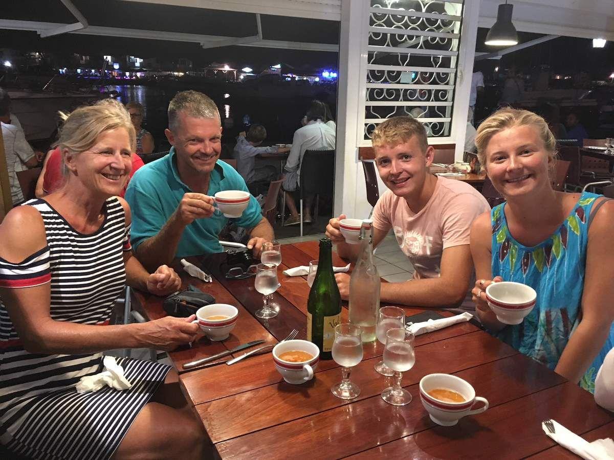 Pour fêter notre première course on est allés manger une bonne crêpe bretonne avec les Gilmore.