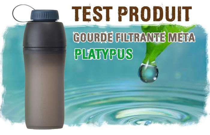 Test et Avis sur la gourde filtrante META de Platypus