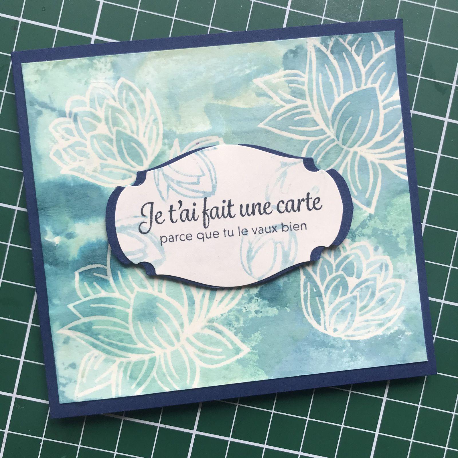Trio de cartes lovely Lily pad !