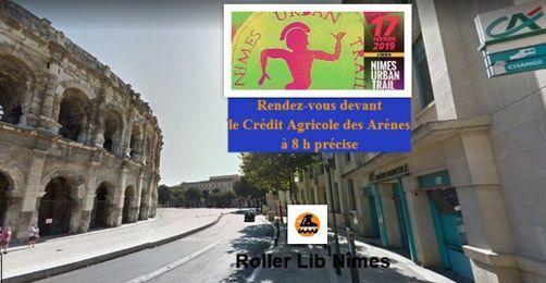 Le rendez-vous Roller Lib, l'école de patinage roller, à l'Urban Trail de Nîmes