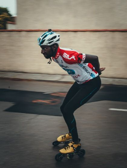 Roller Lib à Nîmes, Mapenda premier course roller semi-marthon