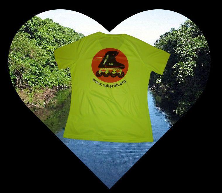 Roller lib, Nîmes, tee-shirt, vêtement, randonnée, voie verte, école, patinage, roller, logo