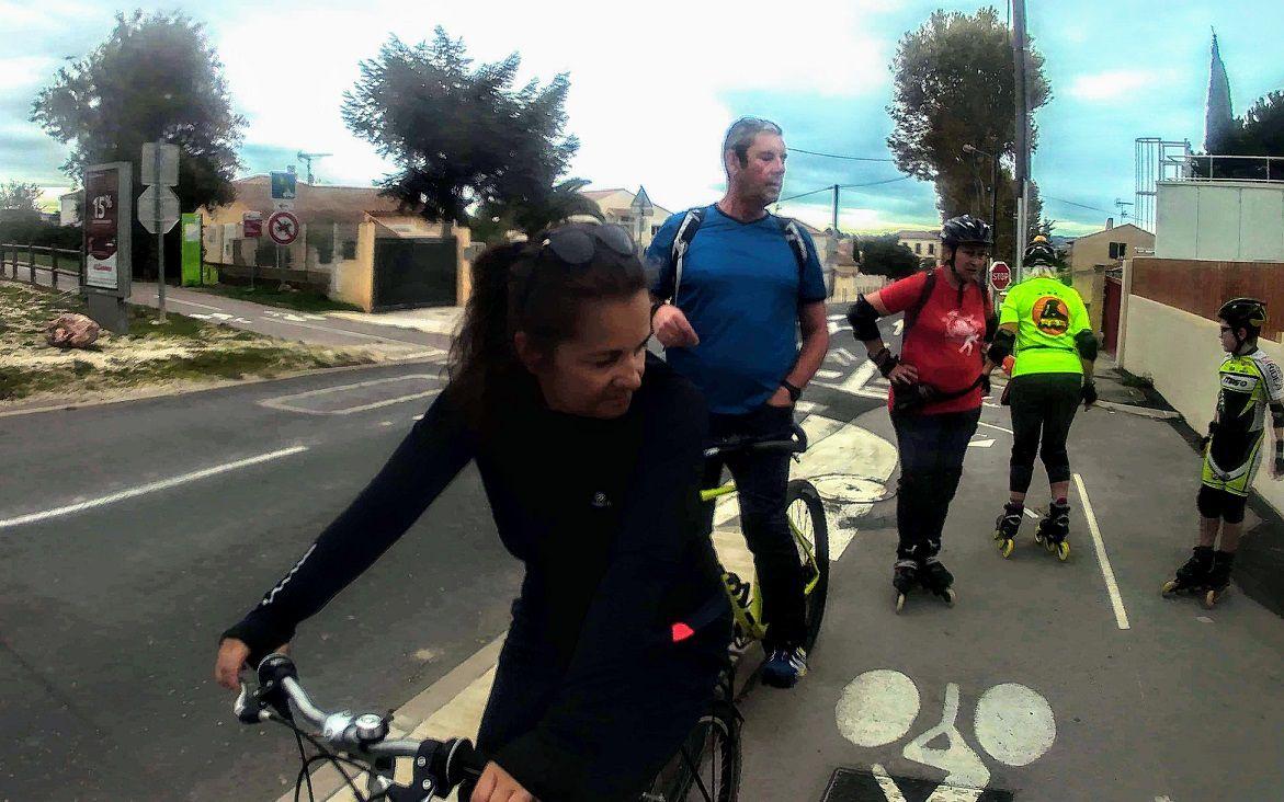 ROLLER LIB NIMES sur la voie verte du Barcarès