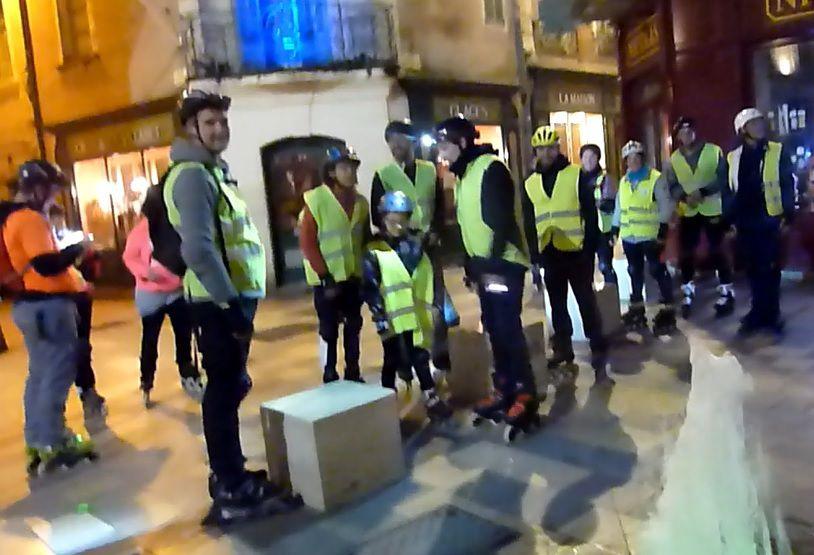 Roller Lib Nimes, balade roller en ville à Nîmes, club patinage,