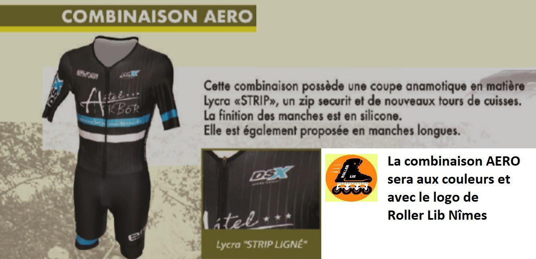 Club Roller Lib à Nîmes, Combinaison Aéro, course roller