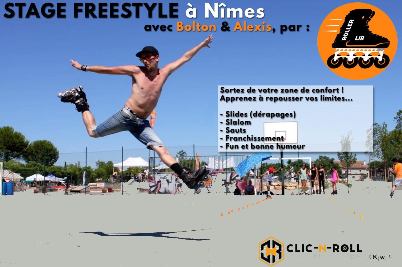 Roller Lib, école patinage à Nîmes, cours patin,