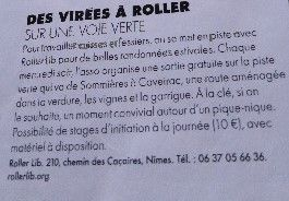 Roller Lib, club sports Nîmes, rando, cours, stage, école, roller,