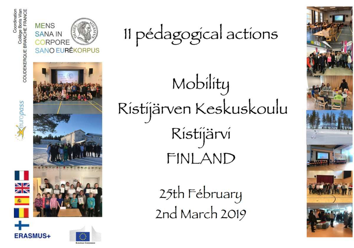 SMFI19 11 pedagogical actions in a week