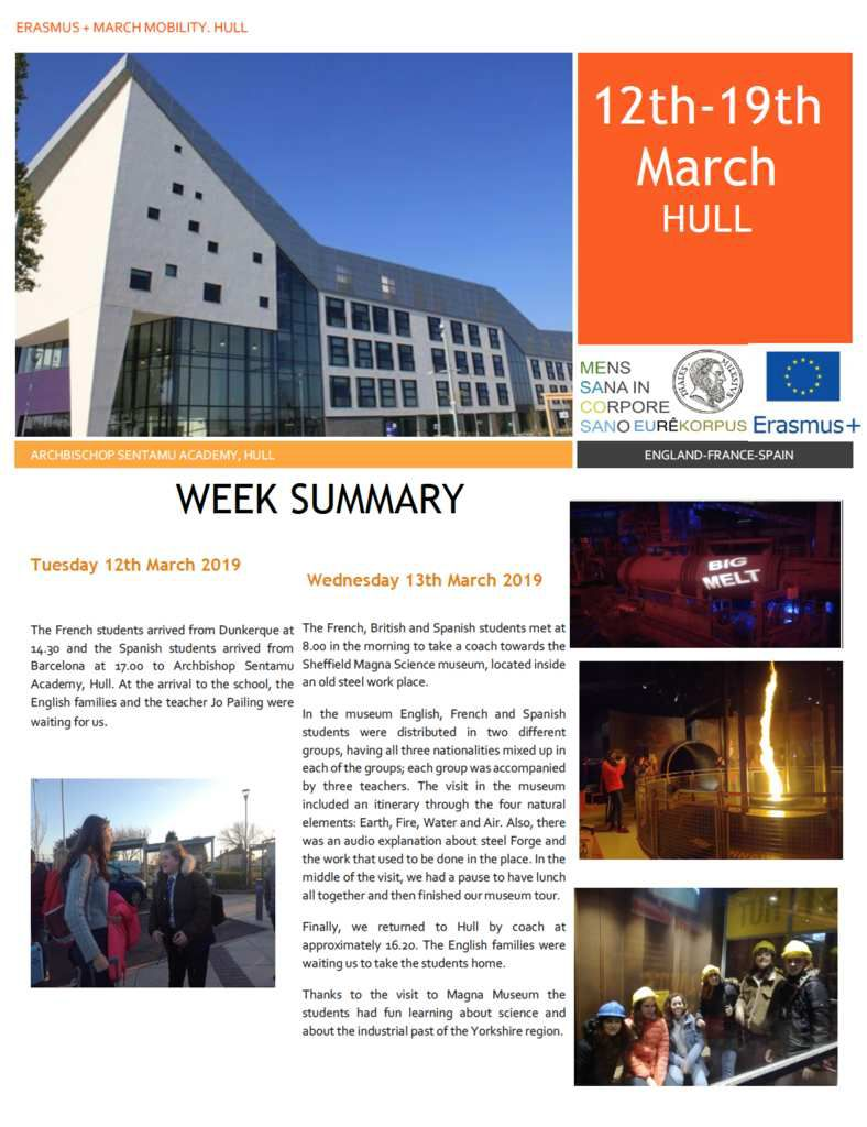 SMGB19 Report of the week in England