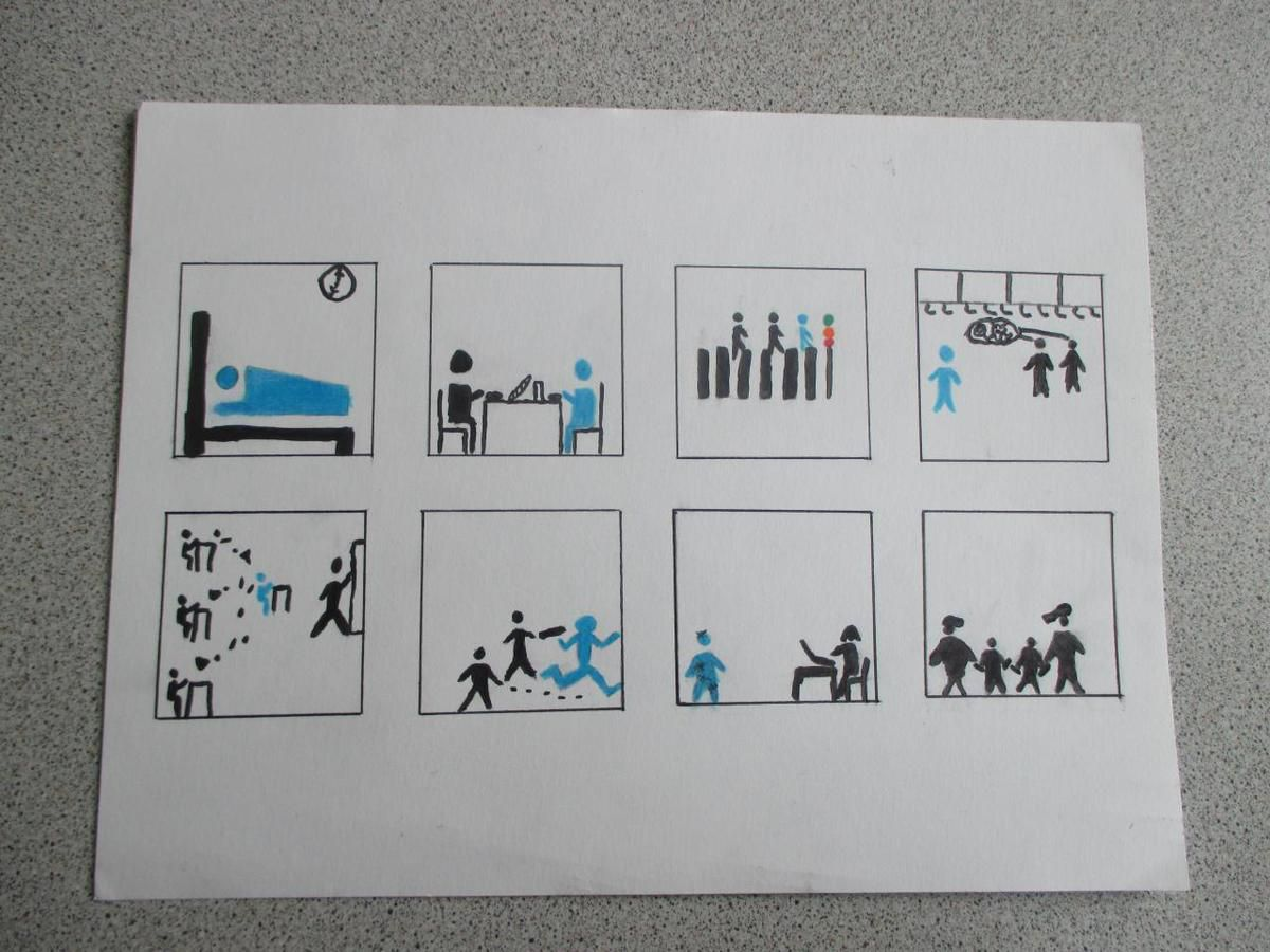 Creation A Story without Words (Pictograms)