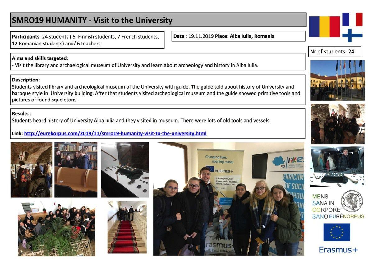 SMO19 13 pedagogical actions in a week in Alba Iulia ROMANIA