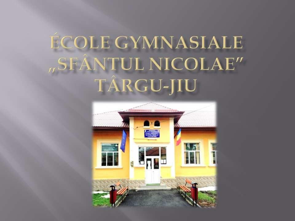 ACTION 1 - Présentation école primaire Sfântul Nicolae