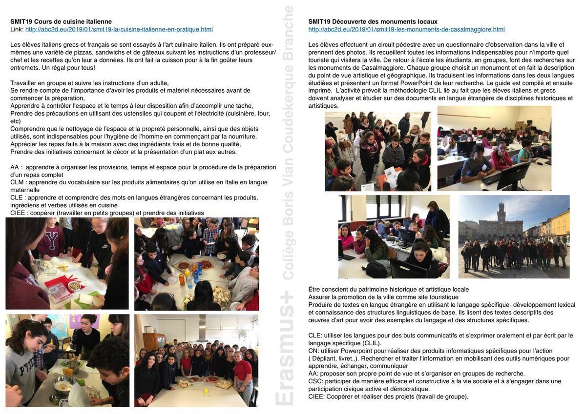SMIT19 7 actions pédagogiques en Terre italienne