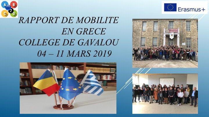 SMGR19 Rapport mobilité en Grèce