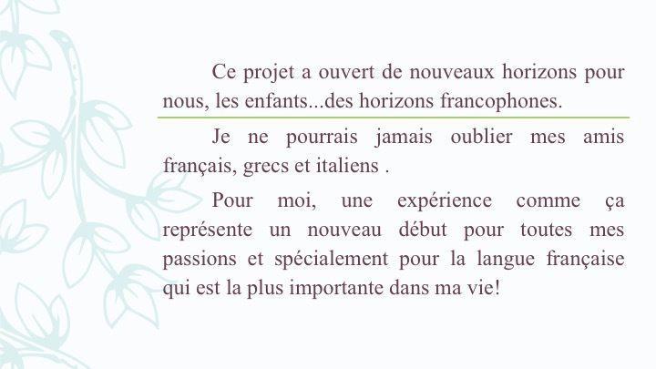 SMFR19  Vision d'une jeune roumaine lors de sa mobilité Erasmus+ en France