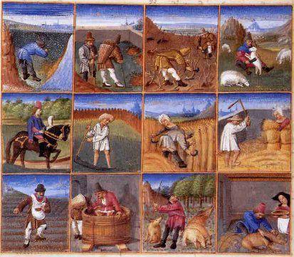 SEC Calendrier des travaux agricoles au XIVe siècle