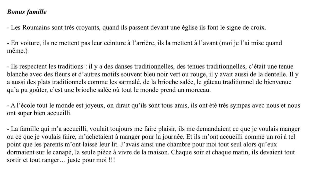 SMRO19 Journal de bord d'un jeune français 12 ans parti en Roumanie
