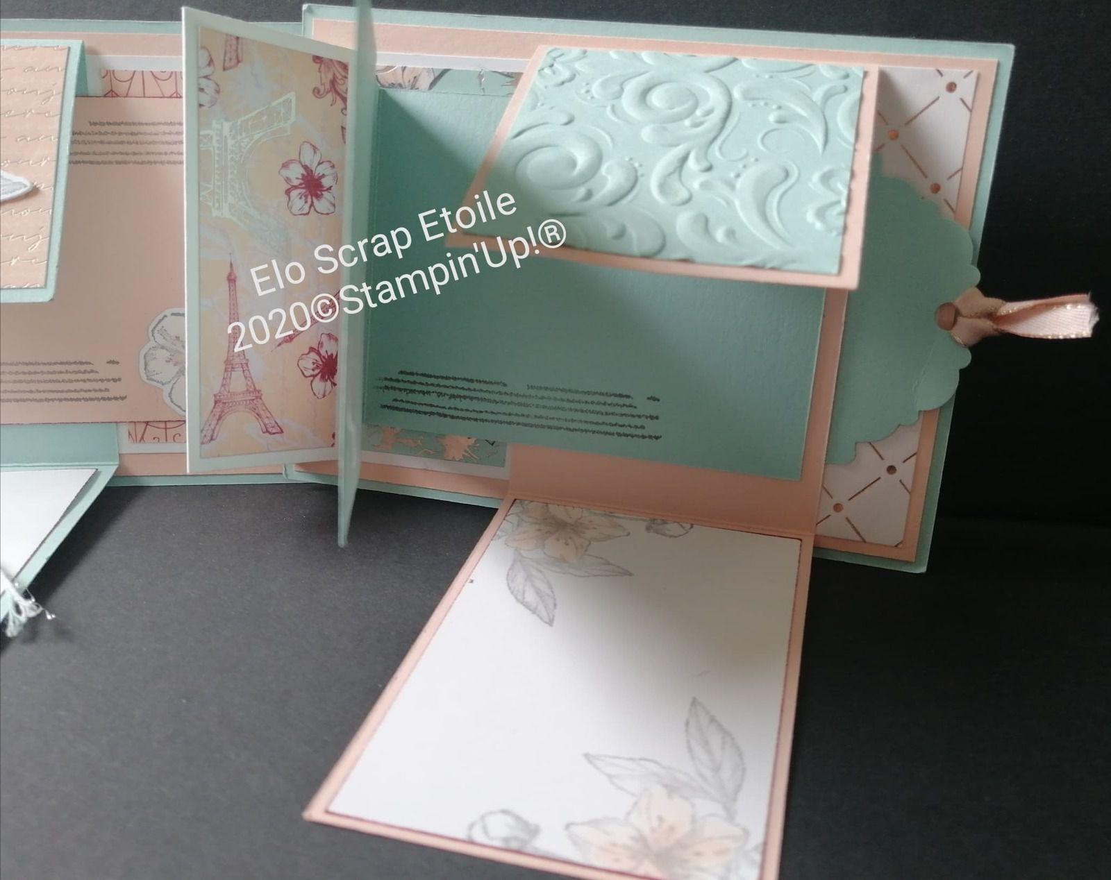 mini album facile - Elo Scrap Etoile - Stampin'Up
