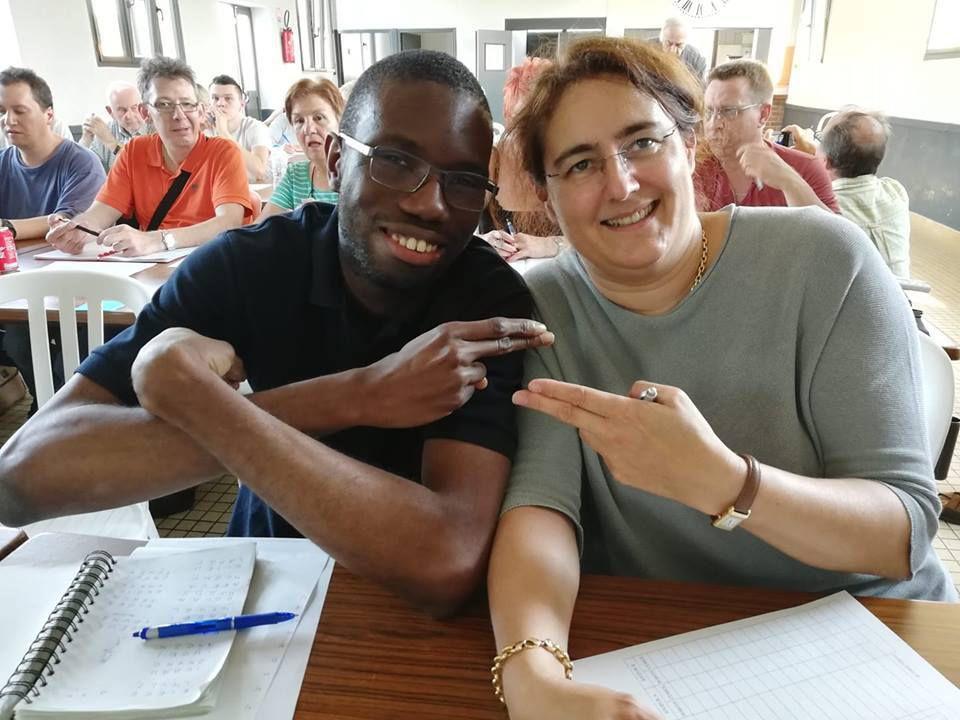 Finalistes de la poule A : Ahmed Bakayoko et Constance Dubois