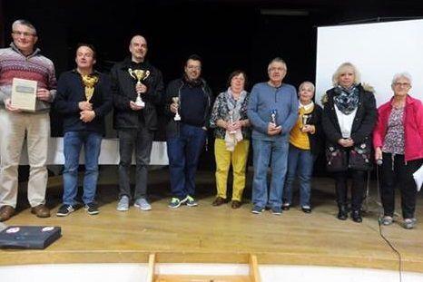 Le podium et tous les lauréats